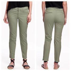 Old Navy Pixie Pants Khaki Green Size 8 NWOT